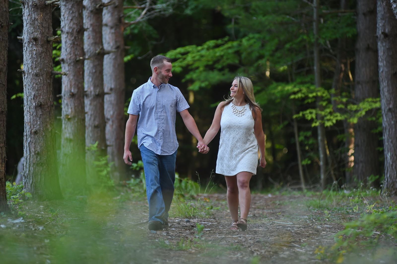 Couple Walking in the Catskills