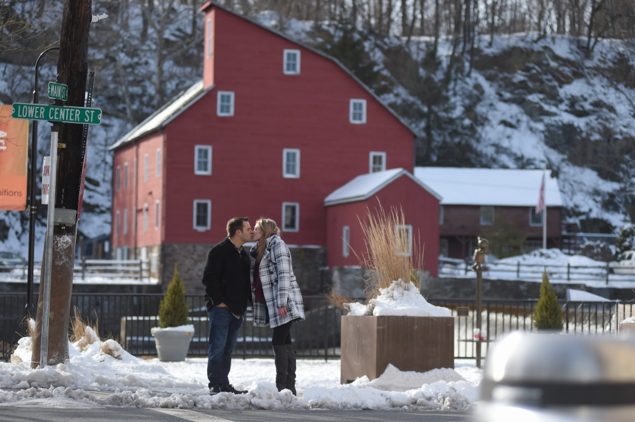 Couple next to Red Mill